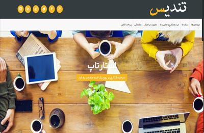 طراحی سایت شرکت پیک تندیس