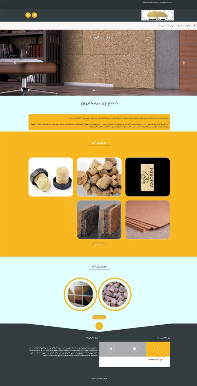 طراحی سایت شرکت صنایع چوب پنبه ایران