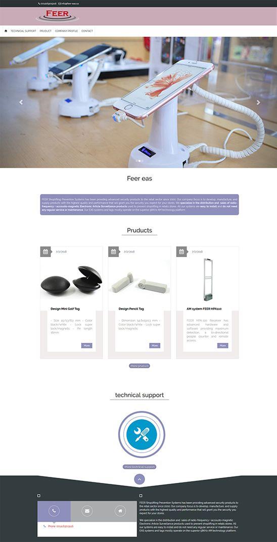 طراحی سایت شرکت Feer eas