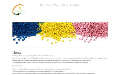 طراحی سایت شرکت پتروشیمی سامان