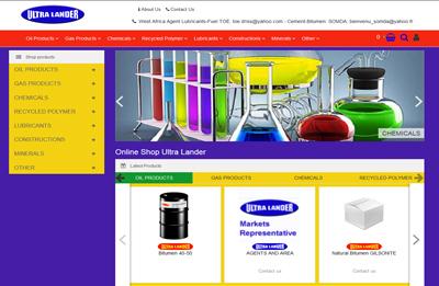طراحی سایت فروشگاه نفتی ultralander