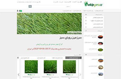 طراحی سایت فروشگاه چمن مصنوعی رویا